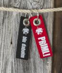 Schlüsselanhänger »Filz« »Bin Dahoim« schwarz