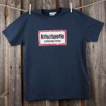 »Krischperle« | marineblau L | mit Innendruck als Gruselshirt